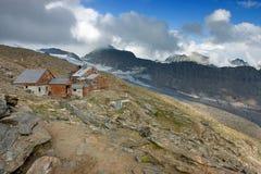 Sikt av Defregger Haus (2.963 M) Arkivfoto