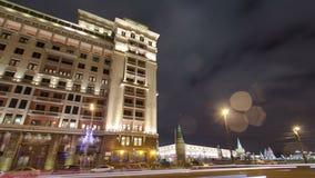Sikt av den östliga fasaden av det gamla hotellet Moskva arkivfilmer
