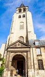Sikt av den Abbaye Helgon-Germain-des-Pres abbotskloster, ett romanskt mig Royaltyfri Foto
