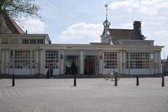 Sikt av den Amsterdam besökaremitten arkivfoto