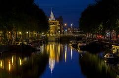 Sikt av den Amsterdam kanalen Royaltyfria Bilder