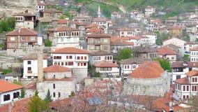Sikt av den Anatolian byn för traditionell ottoman, Safranbolu, Turkiet arkivfilmer