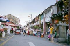 Sikt av den armeniska gatan, George Town, Penang, Malaysia Royaltyfria Bilder