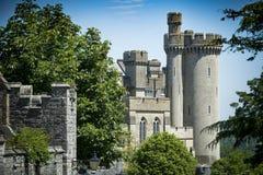 Sikt av den Arundel slotten från den Sussex gatan Royaltyfria Foton