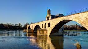Sikt av den Avignon bron - Frankrike Royaltyfria Bilder