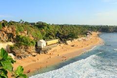 Sikt av den Balangan stranden, Bali Arkivbilder