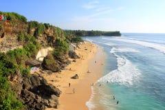 Sikt av den Balangan stranden, Bali Arkivfoto