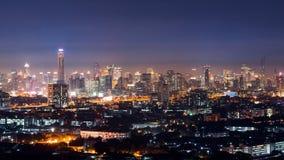 Sikt av den Bangkok skyskrapan i Bangkok, Thailand Royaltyfria Foton