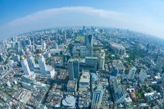 Sikt av den Bangkok staden med moln Royaltyfria Bilder