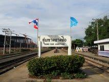 Sikt av den Bangsue drevstationen arkivfoton