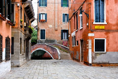 Sikt av den berömda staden av Venedig Royaltyfri Foto