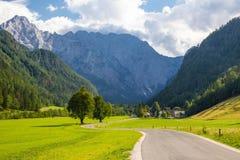 Sikt av den ber?mda Logar dalen i Slovenien arkivbild