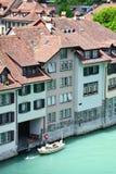 Sikt av den Bern- och Aare floden Royaltyfri Foto