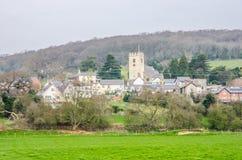 Sikt av den Bodfari byn, Denbighshire, Wales Arkivfoto
