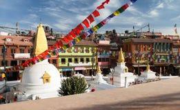 Sikt av den Bodhnath stupaen Royaltyfri Foto