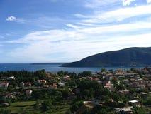 Sikt av den Boka Kotorska fjärden, Montenegro royaltyfria foton