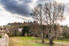 Sikt av den Carcassonne slotten Fotografering för Bildbyråer