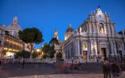 Sikt av den Catania domkyrkan Royaltyfri Fotografi