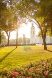 Sikt av den centrala fyrkanten Vilnius Arkivfoto