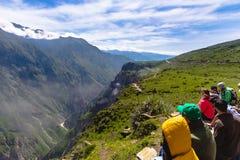 Sikt av den Colca kanjonen, Peru royaltyfria bilder