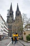 Sikt av den Cologne domkyrkan Fotografering för Bildbyråer