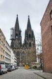 Sikt av den Cologne domkyrkan Royaltyfri Fotografi