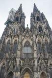 Sikt av den Cologne domkyrkan Arkivbild