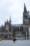 Sikt av den Cologne domkyrkan Royaltyfria Bilder