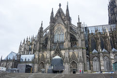 Sikt av den Cologne domkyrkan Arkivbilder