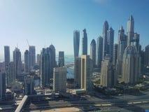 Sikt av den Dubai marina i UAE Royaltyfri Fotografi