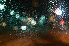 Sikt av den festliga julen och ljusen för nytt år av staden fotografering för bildbyråer