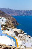 Sikt av den Fira staden - Santorini ö, Kreta, Grekland. Royaltyfria Foton