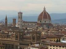 Sikt av den Florence domkyrkan från piazzale Michelangelo arkivbilder