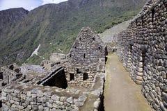 Sikt av den forntida Inca City av Machu Picchu, Peru arkivfoto