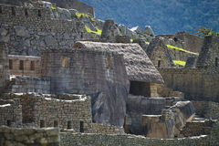 Sikt av den forntida Inca City av Machu Picchu, Peru arkivfoton