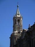 Sikt av den forntida katolska kyrkan Royaltyfri Bild
