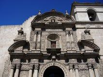Sikt av den forntida katolska kyrkan Royaltyfria Foton