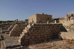 Sikt av den forntida romerska staden av Dugga, Tunisien Arkivbild