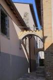 Sikt av den forntida staden - Corfinio, L'Aquila, Abruzzo Arkivfoto