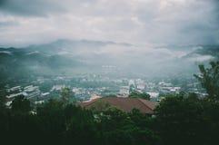 Sikt av den gömda dalen, Chiang Rai, Thailand arkivbild