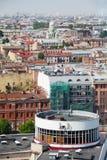 Sikt av den gamla europeiska staden från höjd av fågels flyg St Petersburg Ryssland, Nordeuropa Royaltyfria Foton