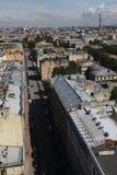 Sikt av den gamla europeiska staden från höjd av fågels flyg St Petersburg Ryssland, Nordeuropa Arkivfoton