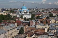 Sikt av den gamla europeiska staden från höjd av fågels flyg St Petersburg Ryssland, Nordeuropa Arkivfoto