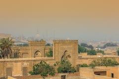 Sikt av den gamla Kairo Arkivfoto