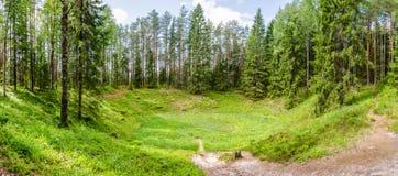 Sikt av den gamla krater Arkivbilder