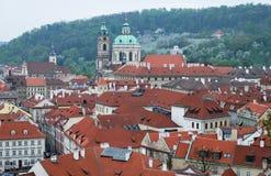 Sikt av den gamla Prague Royaltyfri Fotografi