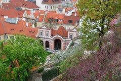 Sikt av den gamla Prague Arkivbilder
