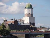 Sikt av den gamla slotten Arkivfoton