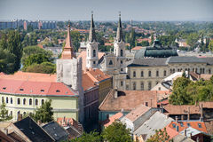 Sikt av den gamla staden av Esztergom Arkivbild