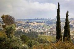 Sikt av den gamla staden av Jerusalem, Israel Royaltyfri Foto